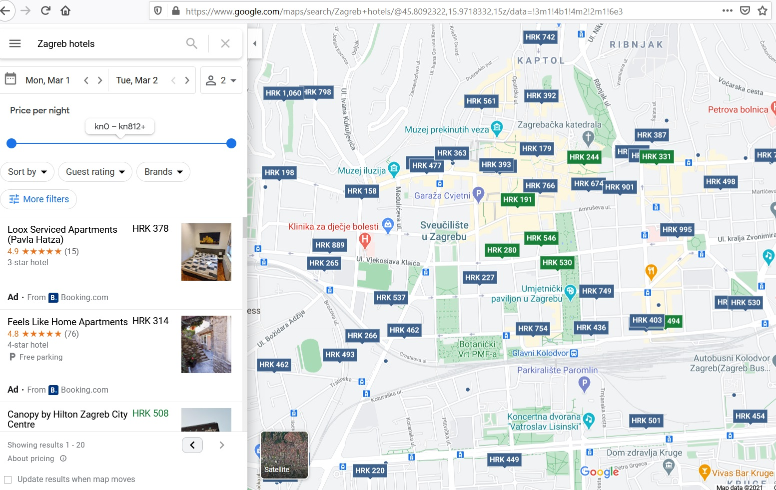 google my business na mapi