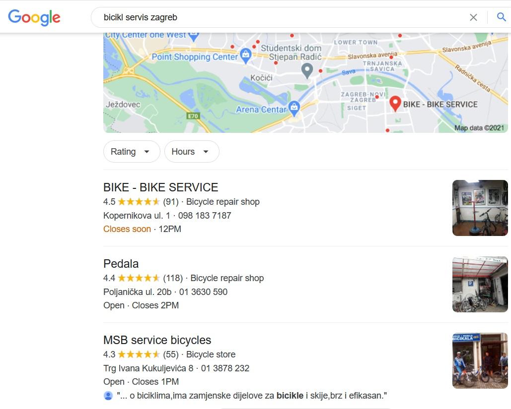google my business za seo