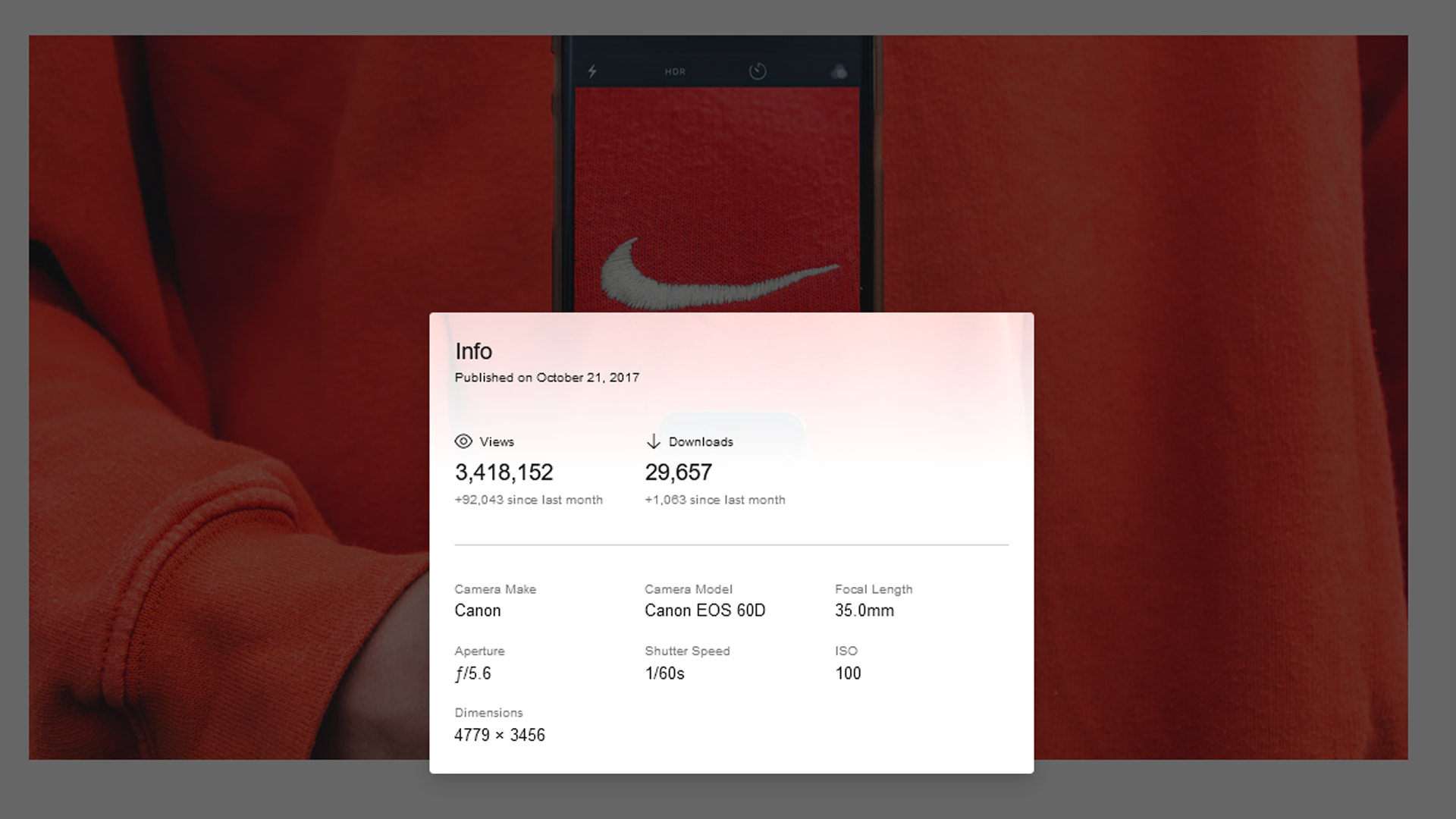 Nike unsplash vizualni marketing