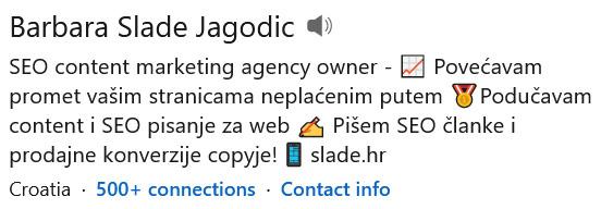 Linkedin profil- naziv