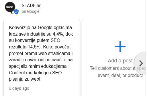 Google objave za SEO