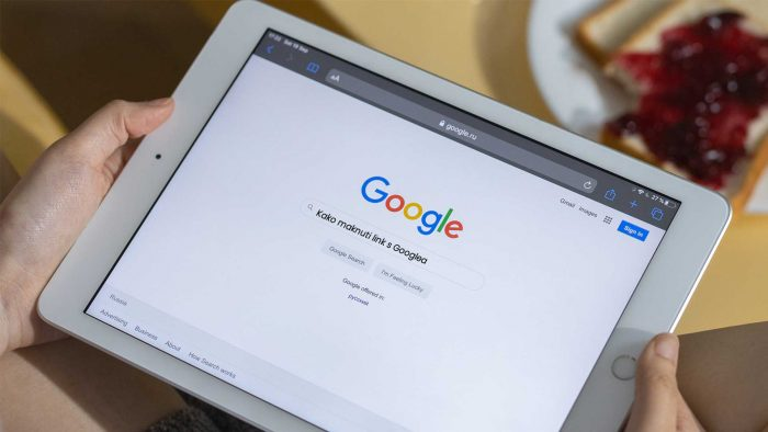Kako maknuti link s Googlea