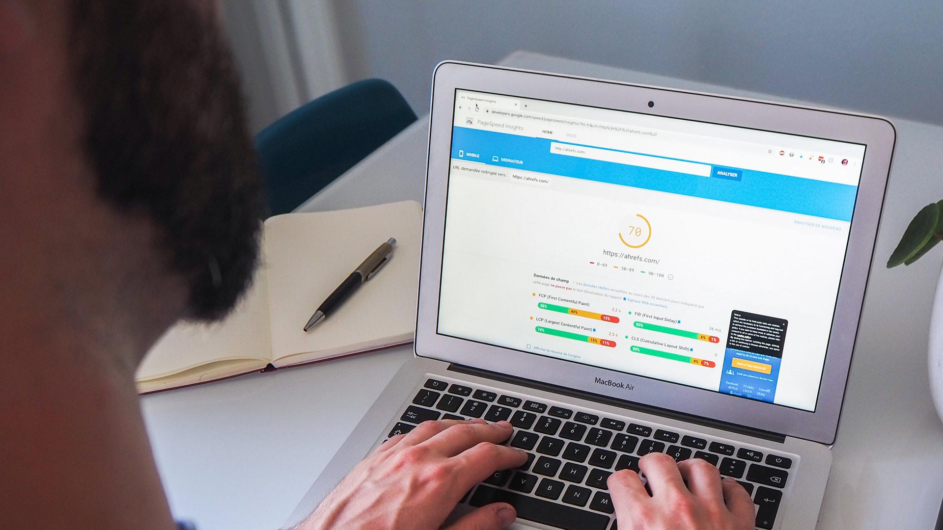 Core web vitals test by Google