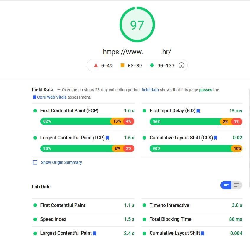 Page sceepd insights- rezultati